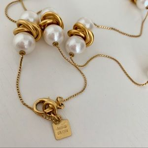 Anne Klein Knot and Pearl Necklace